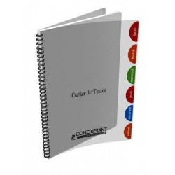 CAHIER TEXT CONQC INT 17X22 124P SEY 90G INC PP