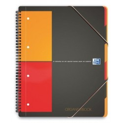ORGANISER BOOK A4+ 80G 180 PAGES 4 TROUS 5x5 REF001801 100102777