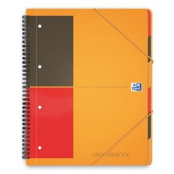 ORGANISER BOOK A4+ 80G 180 PAGES 4 TROUS LIGNE 6MM REF001802 100100462