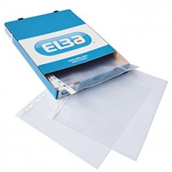 POCHETTES PERFOREES PP LISSE TRANSPARENT 100 MICRONS x100