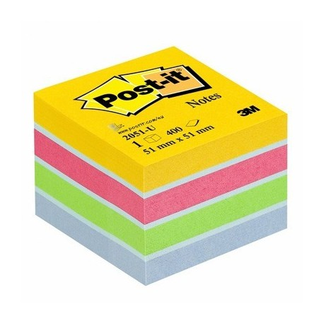 MINI CUBE POSTIT 51x51 MULTICOLOR