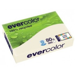 PAPIER A4 80G RECYCLE A4 EVERCOLOR IVOIRE RAM.500 F 40259