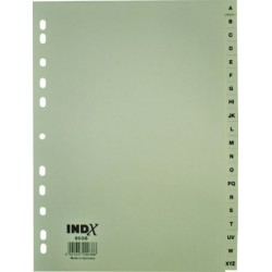 INTERCALAIRE ALPHA.A4 20 FLET 160G CARTE RECYCLE