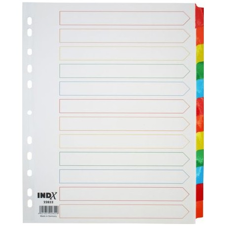 INTERCAL. MYLAR MAXI FT A4+ 12 T BLANC TOUCHES COULEURS