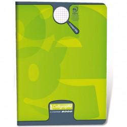 CAHIER PIQURE VERNIS 17x22 90G 60 PAGES SEYES PEFC