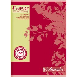 CAHIER PIQURE FOREVER 17x22 70G 96 PAGES SEYES RECYCLE