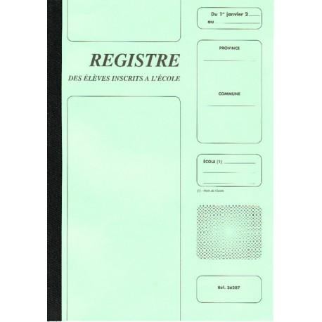 REGISTRE DES ELEVES 16 PAGES (112 ELEVES)