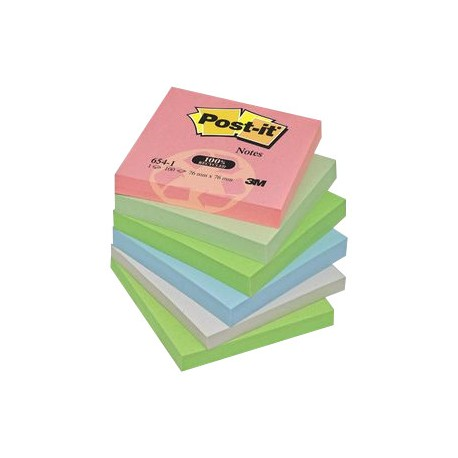 LOT 12 BLOCS POSTIT RECYCLE 76x76 ASSORTIS