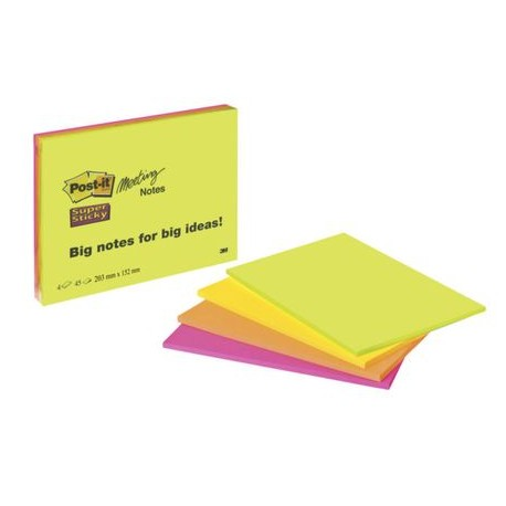 LOT 4 BLOCS MEETING NOTES SUPER STICKY 200x149 MM