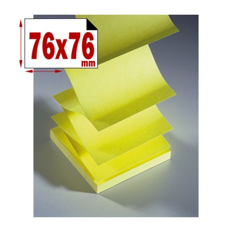 BLOC INTROZ NOTE 76X76 JAUNE