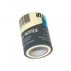 RECHARGES ROLO NOTES JAUNE PASTEL x10