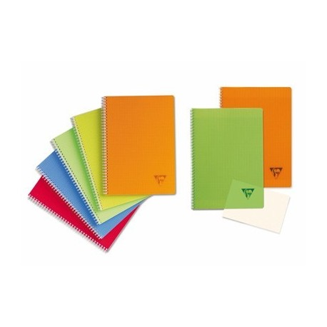 CAHIER SPIRALE LINICOLOR 21X29,7 A4 180 PAGES 5X5 COUV.POLYPROPYLENE