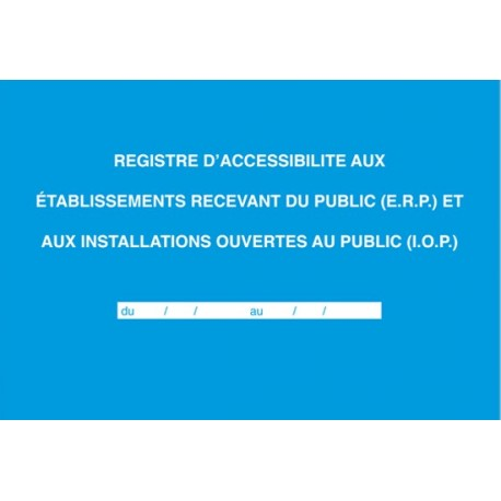 REGISTRE D ACCESSIBILITE 21X29.7 ELVE 48001