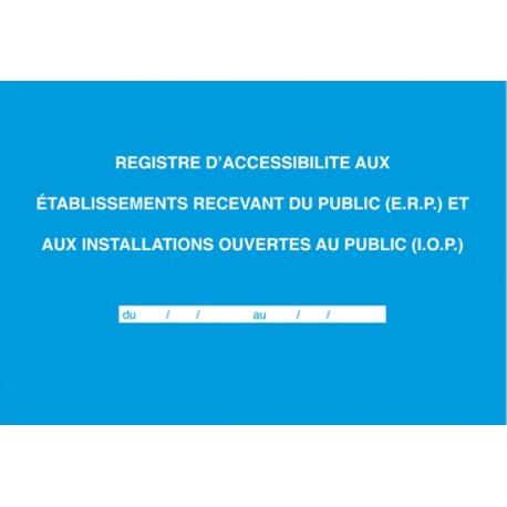 REGISTRE D ACCESSIBILITE 21X29.7 ELVE 48001