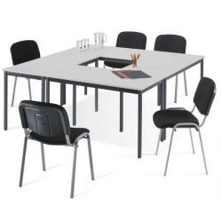 Table rectangulaire polyvalente L. 120 x P. 60 cm gris clair