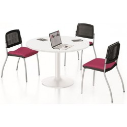 Table individuelle ronde Diam. 100 cm blanche