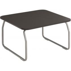 Table basse carrée gris foncé H. 41 cm L.70 P.70 cm
