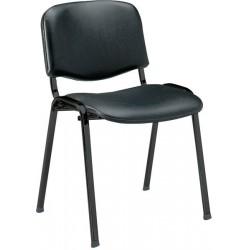 Chaise noire Similicuir 4 pieds