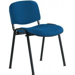 Chaise 4 pieds tissu bleu