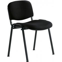 Chaise 4 pieds tissu noir