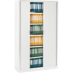 Armoire à rideaux ARIV L. 100 x H 198 cm blanche