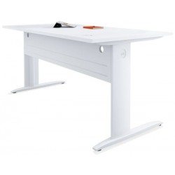Table de bureau rectangulaire blanche P. 80 x L 160 cm