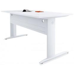 Table de bureau rectangulaire blanche P. 80 x L 160 cm