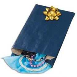 Paquet de 250 sachets kraft bleu 15 x 25 x 7 cm