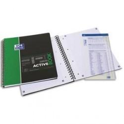 Cahier étudiant A4+ OXFORD ACTIVBOOK 160P 5x5 appli SOS NOTES