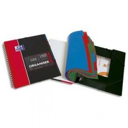 LOT DE 5 Cahiers étudiant A4+ OXFORD ORGANISERBOOK Spirale 160p 5x5 Appli SOS NOTES