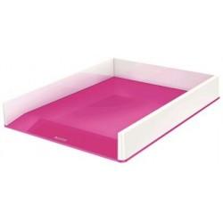 Corbeille à courrier LEITZ Dual blanc/rose métallisé