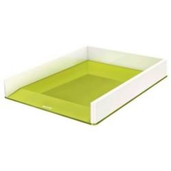 Corbeille à courrier LEITZ Dual blanc/vert métallisé