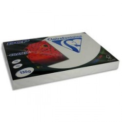 CLAIREFONTAINE Ramette 250 feuilles A3 135g DCP coated brillant 2 faces 6842