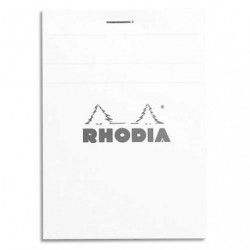 BLOC DE BUREAU DIRECTION RHODIA BLANC 160 PAGES N°12 8.5x12cm PETITS CARREAUX 5x5 80G