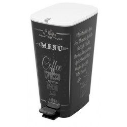 POUBELLE NOIRE 45L DECOR CAFE 2807190011