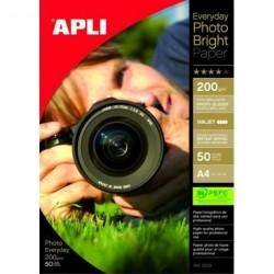 PAPIER PHOTO BRILLANT 200G A4 POCH. 50 F 012239
