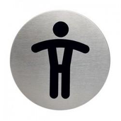 PLAQUE DE SIGNALISATION § 83 MM TOILETTE HOMME