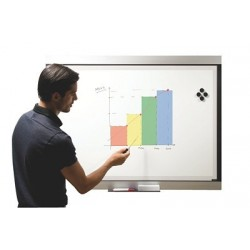 TABLEAU EMAILLE 3 EN 1 90x120 CM PPROJECTION+EFFACABLE A SEC+MAGNETIQUE
