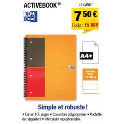 CAHIER ACTIVEBOOK A4+ OXFORD INTERNATIONAL LIGNE 6