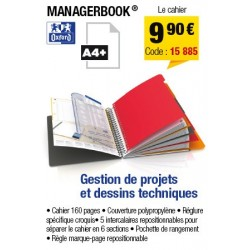 CAHIER ORGANISER MANAGERBOOK A4+ OXFORD 80 PAGES