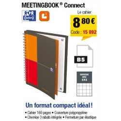 CAHIER OXFRD MEETINGBOOK CONNECT FORMAT B5 160P 90G PETITS CARREAUX 5x5