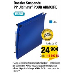 DOSSIERS ARMOIRE POLYPRO ULTIMATE FOND V BLEU x10