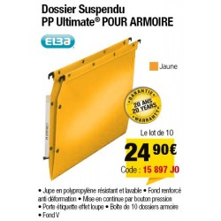 DOSSIERS ARMOIRE POLYPRO ULTIMATE FOND V JAUNE x10