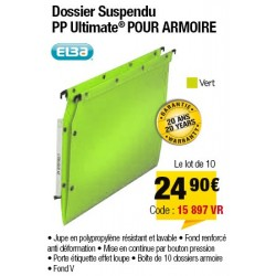 DOSSIERS ARMOIRE POLYPRO ULTIMATE FOND V VERT x10