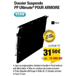 DOSSIERS ARMOIRE POLYPRO ULTIMATE FOND 15 NOIR x10