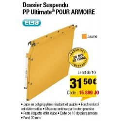 DOSSIERS ARMOIRE POLYPRO ULTIMATE FOND 30 JAUNE x10