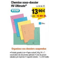 CHEMISES SOUS-DOSSIERS HV BLEU x25