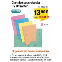 CHEMISES SOUS-DOSSIERS HV ROSE x25