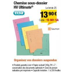 CHEMISES SOUS-DOSSIERS HV SAUMON x25