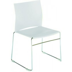 CHAISE POLYPRO MULTI-USAGES BLANCHE 3680BLANC EMPILABLE